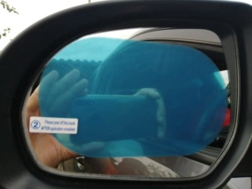 Car Side Mirror Anti Fog Film 2pcs/pack photo review