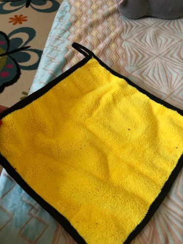 Double Side Microfiber Cloth 680 GSM For Car Cleaning photo review
